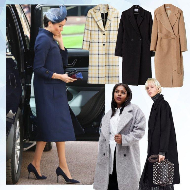 Πέντε παλτό που πρέπει να αγοράσεις το χειμώνα για να μοιάζεις στη Meghan  Markle 3b87471c4f1